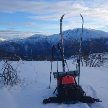 Beklædning og Ultralight Backpacking på vintertur